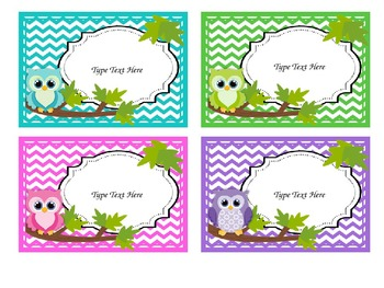 Bright Owl Theme LABELS Chevron EDITABLE