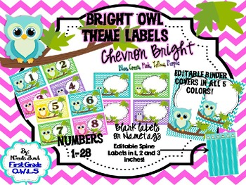 Bright Owl Theme LABELS Chevron EDITABLE