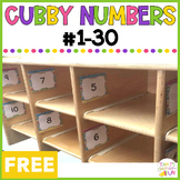 Cubby Labels - #1-30