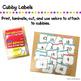 Cubby Labels - #1-30