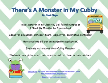 Cubby Monster Writing