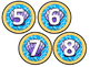 Cubby Numbers (Beach Theme)