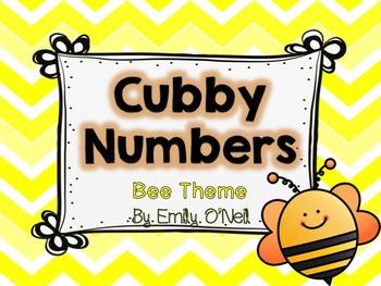 Cubby Numbers (Bee Theme)