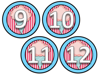 Cubby Numbers (Bright Circus Theme)