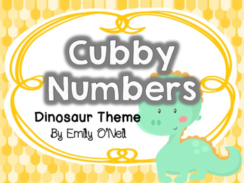 Cubby Numbers (Dinosaur Theme)