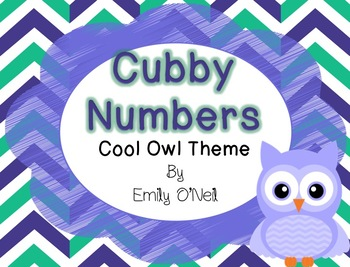 Cubby Numbers (Owl Theme)