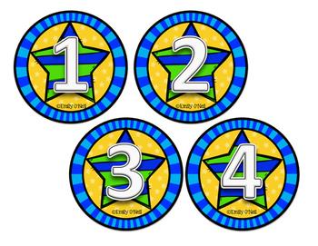 Cubby Numbers (Superhero Theme)