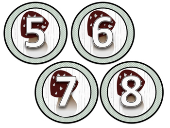Cubby Numbers (Woodland Theme)
