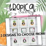 Cubby Tags - Tropical Theme (Pineapple, Watermelon, Flamin
