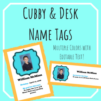 Cubby and Desk Labels -- EDITABLE