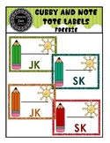 Cubby and Note Tote Labels/Cards...FREEBIE (pdf)