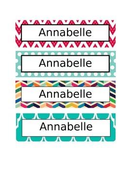 Cubby/Desk Labels