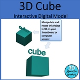 Cube - 3D Shape for Whiteboards and Smartboards