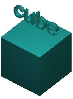 Cube 3D Shape Digital Model for Whiteboards and Smartboards