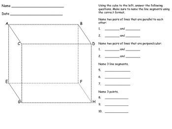 Cube Activity 1