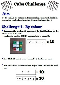 Cube Challenge - Addition Game
