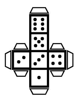 Cube & Dice template