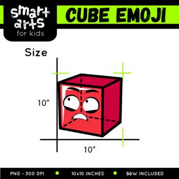 Math Cube Emoji Clip Art