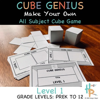 Cube Genius LEVEL 1: Make Your Own, All Subject, PreK-12