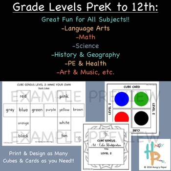 Cube Genius LEVEL 2: Make Your Own, All Subject, PreK-12