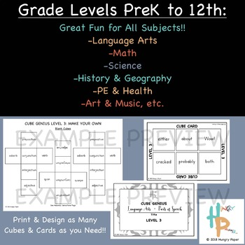 Cube Genius LEVEL 3: Make Your Own, All Subject, PreK-12