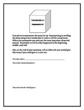 Cube It! Folktale Discussion Activity