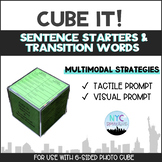 Cube It! Sentence Starters & Transition Words