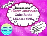 Cube Root Fluency Check / Quiz:  No Prep Fluent in Math Series