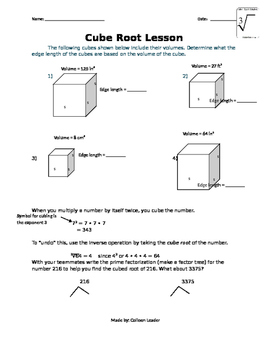 Cube Root Lesson