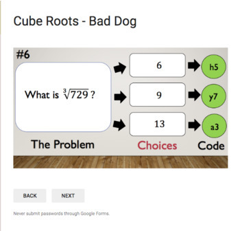 Cube Roots – Bad Dog Breakout for Google Classroom!