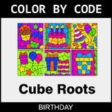 Cube Roots - Color by Code / Coloring Pages - Birthday