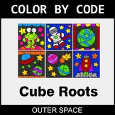 Cube Roots - Color by Code / Coloring Pages - Outer Space