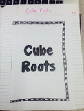 Cube Roots Foldable and Left Hand Page