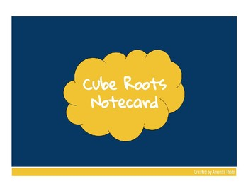 Cube Roots Notecard