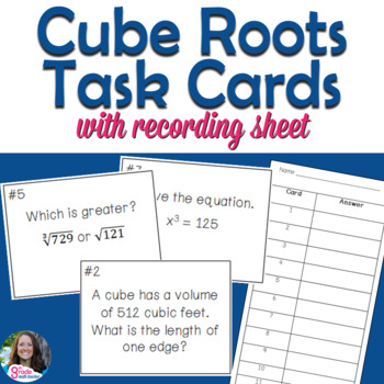 Cube Roots Task Card Activity