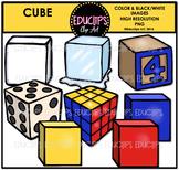 Cube Shapes Clip Art Bundle {Educlips Clipart}