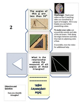 Math PuZZLES: Triangle - Name by Angles