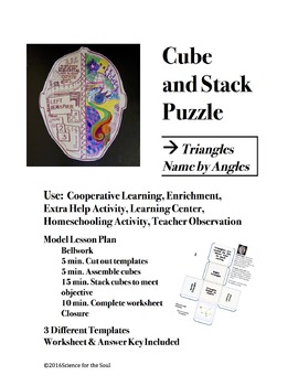 CUBE AND STACK PuZZLES: Triangle - Name by Angles