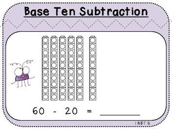 Cube Subtraction-Teacher Slides (First Grade, 1.NBT.6)