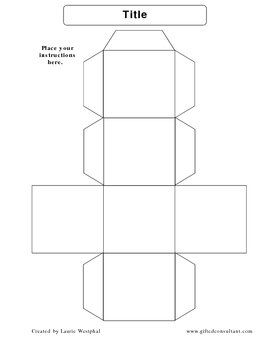 Cube Template - Make your own cubes!