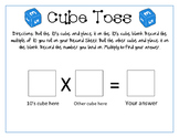 Cube Toss Game for Multiplying with Tens
