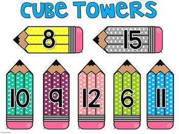 Cube Towers {Math Center FREEBIE}