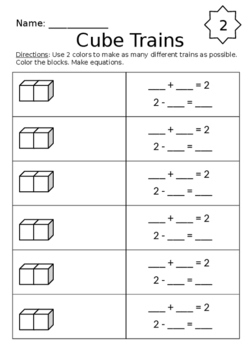 Cube Train Addition and Subtraction