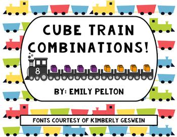 Cube Train Combinations (Decomposing 1-10) [K-1]
