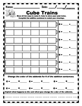 Addition Cube Train Practice