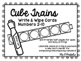 Cube Trains Write & Wipe Cards-Composing and Decomposing Numbers to 10