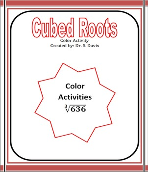 Cubed Roots Color Activity