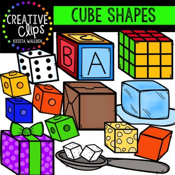 Cube Clipart {Creative Clips Clipart}