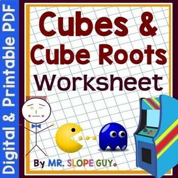 Cubes & Cube Roots PDF Worksheet MAFS.8.EE.1.2 Go Math Grade 8