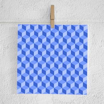 Cubes Digital Paper Pack | Cube Scrapbook Paper | Cube Backgrounds